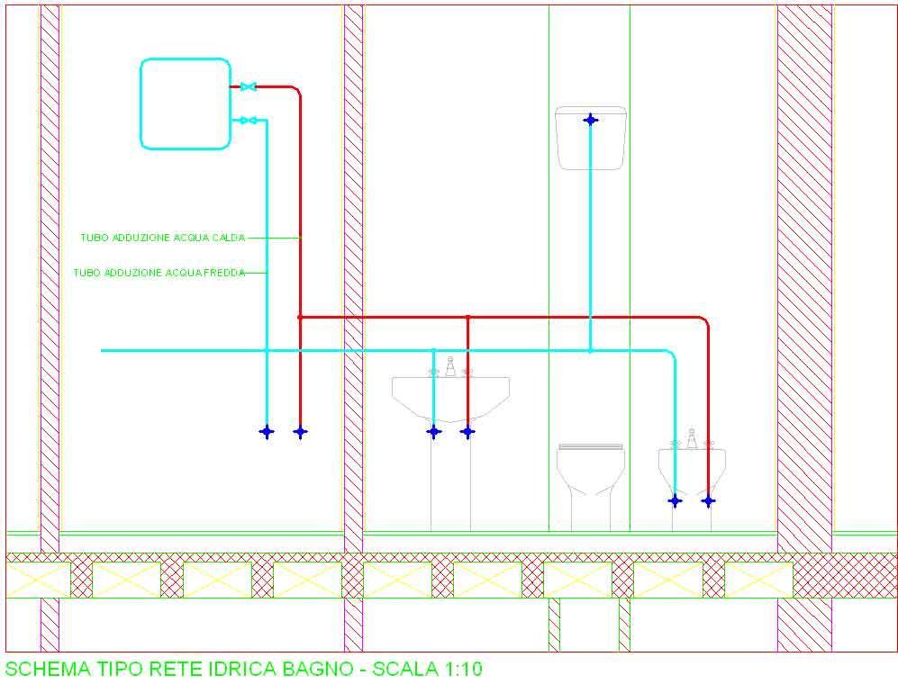 Nuova pagina 1 - Impianto idraulico bagno schema ...
