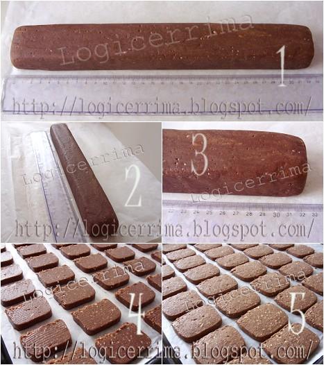 [ Biscotti ai Pinoli e Cacao - ricetta fotografata ]