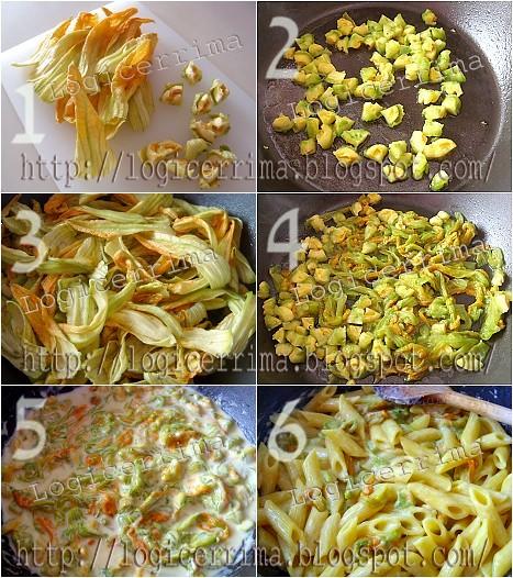[ Pasta allo Zafferano e Fiori di Zucca - ricetta fotografata ]