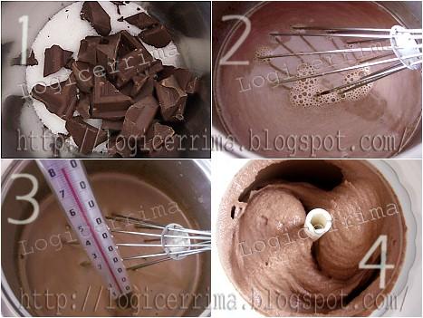 [ Gelato al Cioccolato Light 100% Vegetale - senza Latte senza Uova e senza Panna - ]