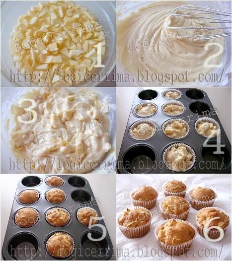 [ Muffins alle Mele senza Uova - ricetta passo passo ]