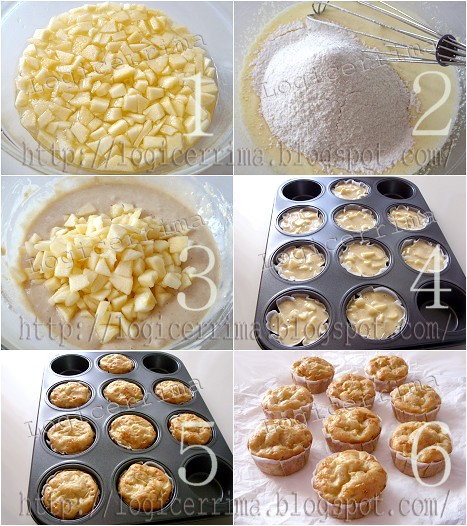 [ Muffins alle Mele senza Burro - ricetta passo passo ]