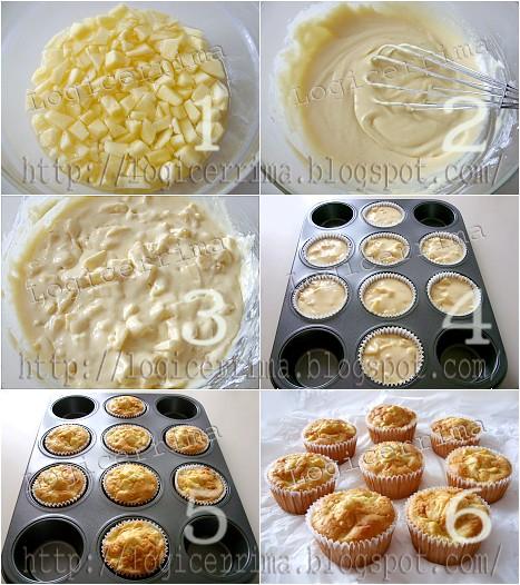 [ Muffins alle Mele senza Burro con Panna - ricetta passo passo ]
