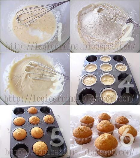 [ Muffins semplici alla Panna - ricetta passo passo ]