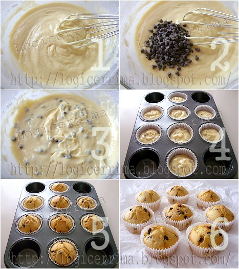 [ Muffins senza Burro con Ricotta e Cioccolato - ricetta passo passo ]