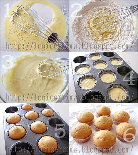 [ Muffins semplici con Yogurt - ricetta passo passo ]