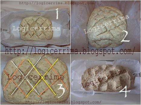 [ Pane con Crusca - sequenza illustrata formatura del pane ]