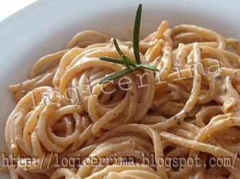 [ Spaghetti alla Crema di Rosmarino e Ricotta ]