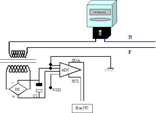 Schema Elettrico Traduzione : Monitor di assorbimento potenza