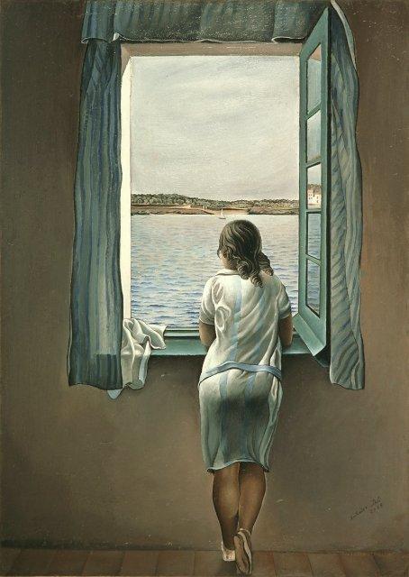 S. Dalì. Muchacha en la ventana