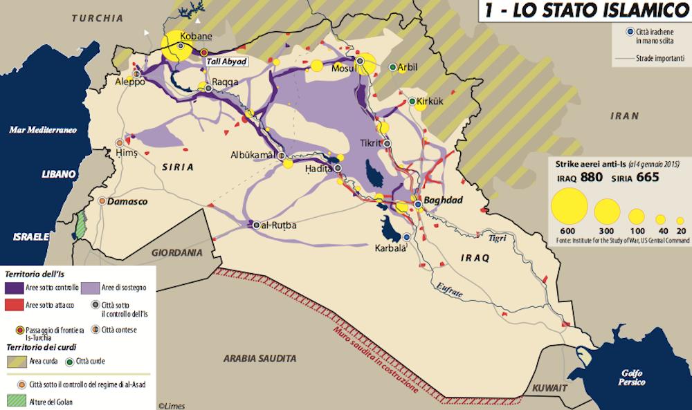 Lo stato islamico. Mappa Limes