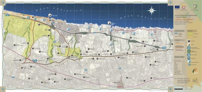 Mappa Parco delle Dune Costiere - Puglia