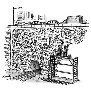 Wall in love. New Yorker cartoons