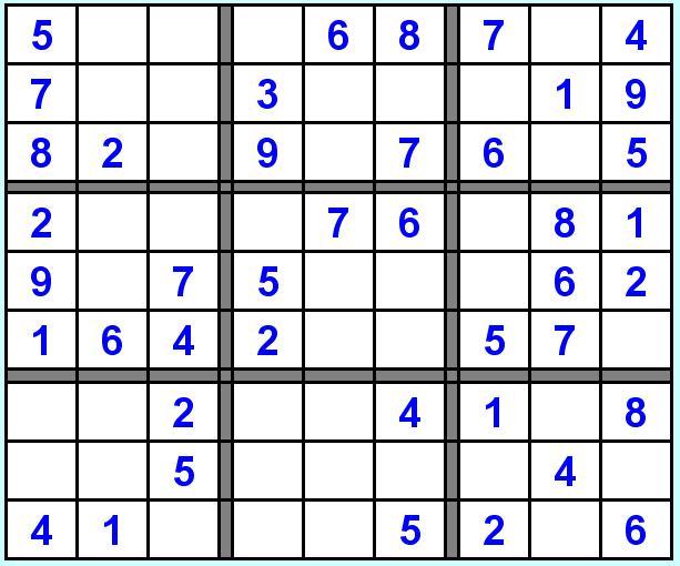 Michele fida sudoku for Sudoku facile da stampare
