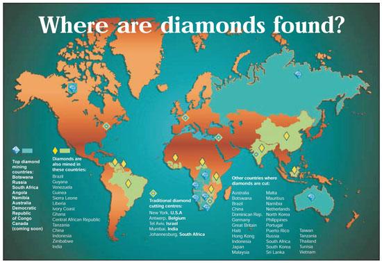 Diamanti nel mondo