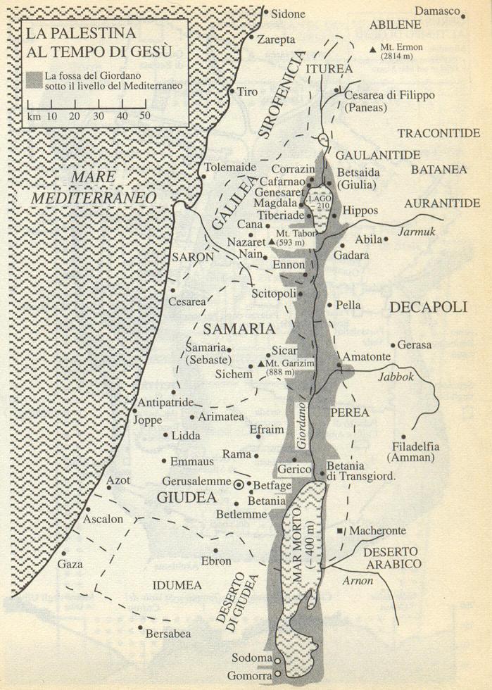 Cartina Fisica Palestina.Storia Della Palestina Nel I Secolo D C