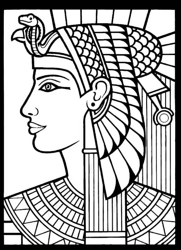 queen nefertiti drawing