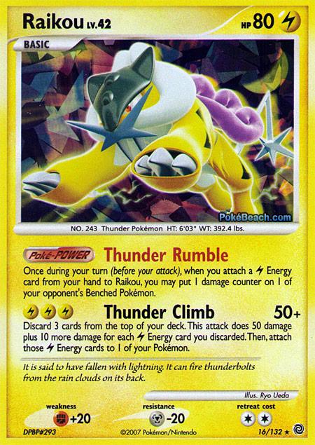 Pokemon Cards Raikou Raikou Pokemon Card