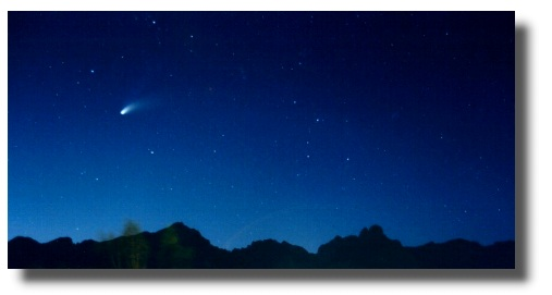 Stella Cometa sul Monte Pizzocco...