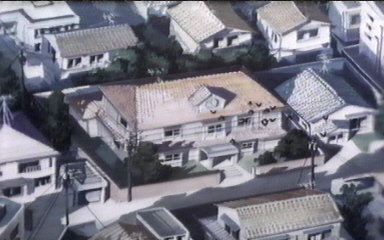 La Maison Ikkoku vista dall'alto in MI LAST MOVIE