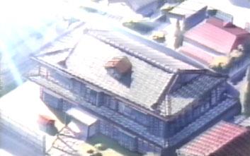 La Maison Ikkoku vista dall'alto nell'episodio n. 73 ~ serie TV