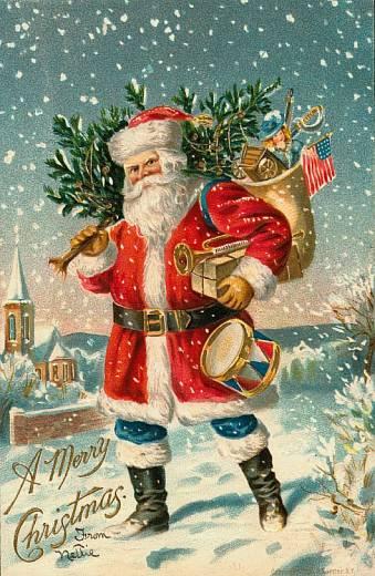 Babbo Natale E San Nicola.Babbo Natale