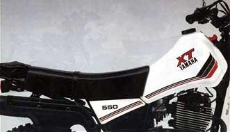 Storia dell'XT 550