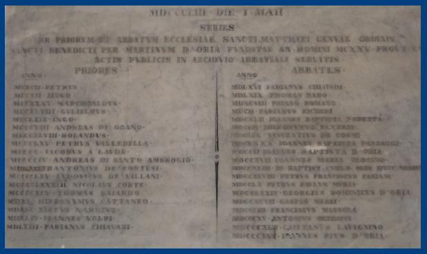 San Matteo - Storia della Parrocchia Abbaziale - Genova - Abbazia
