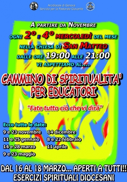 Parrocchia San Matteo - Cammino di Spiritualità - Arcidiocesi di Genova - Pastorale giovanile -