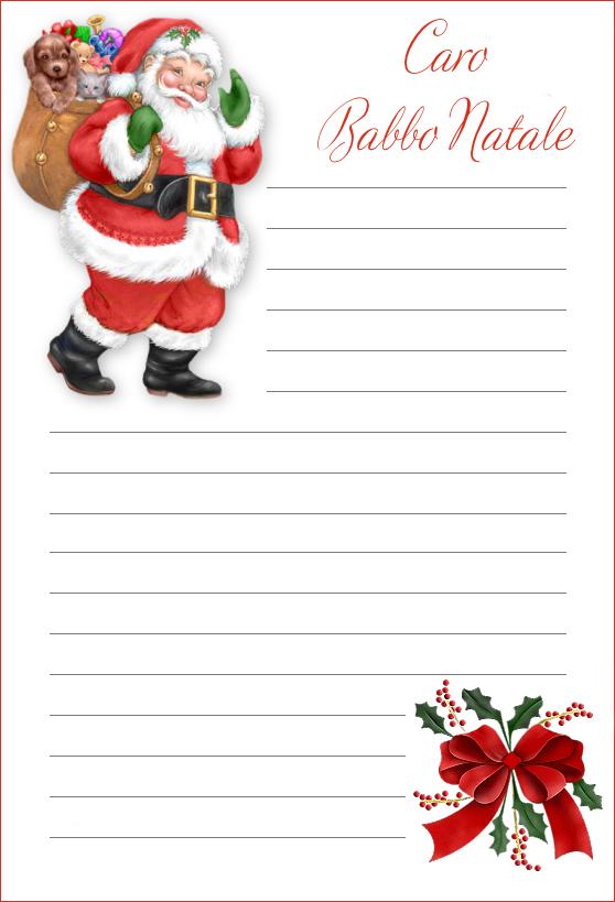 Immagini Di Lettere Di Natale.Lettere Di Babbo Natale Da Stampare Disegni Di Natale 2019