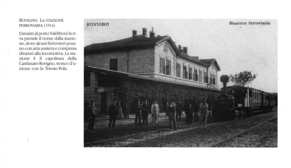 Risultati immagini per la stazione ferroviaria di Rovigno