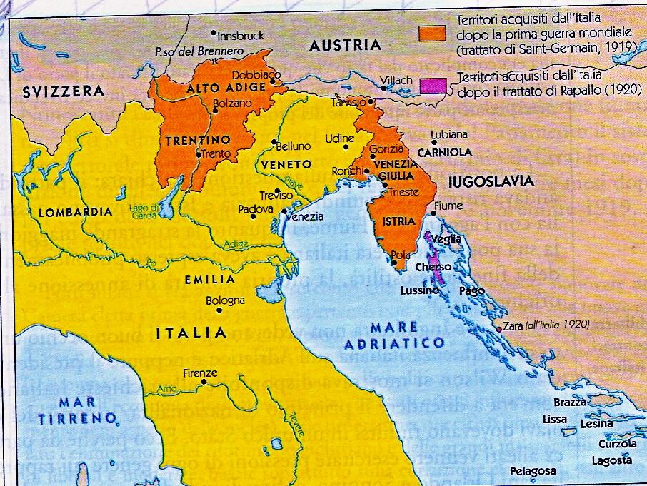 Cartina Geografica Italia Nord Orientale.I Trattatati Di Pace Conferenza Di Parigi 1919 Lessons Tes Teach