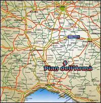 Albergo dell'Armá - 1.470 m. - Santa Margherita Staffora - Pavia - Albergo e Ristorante - Cartina dell'Armá, Pian del Poggio e dintorni