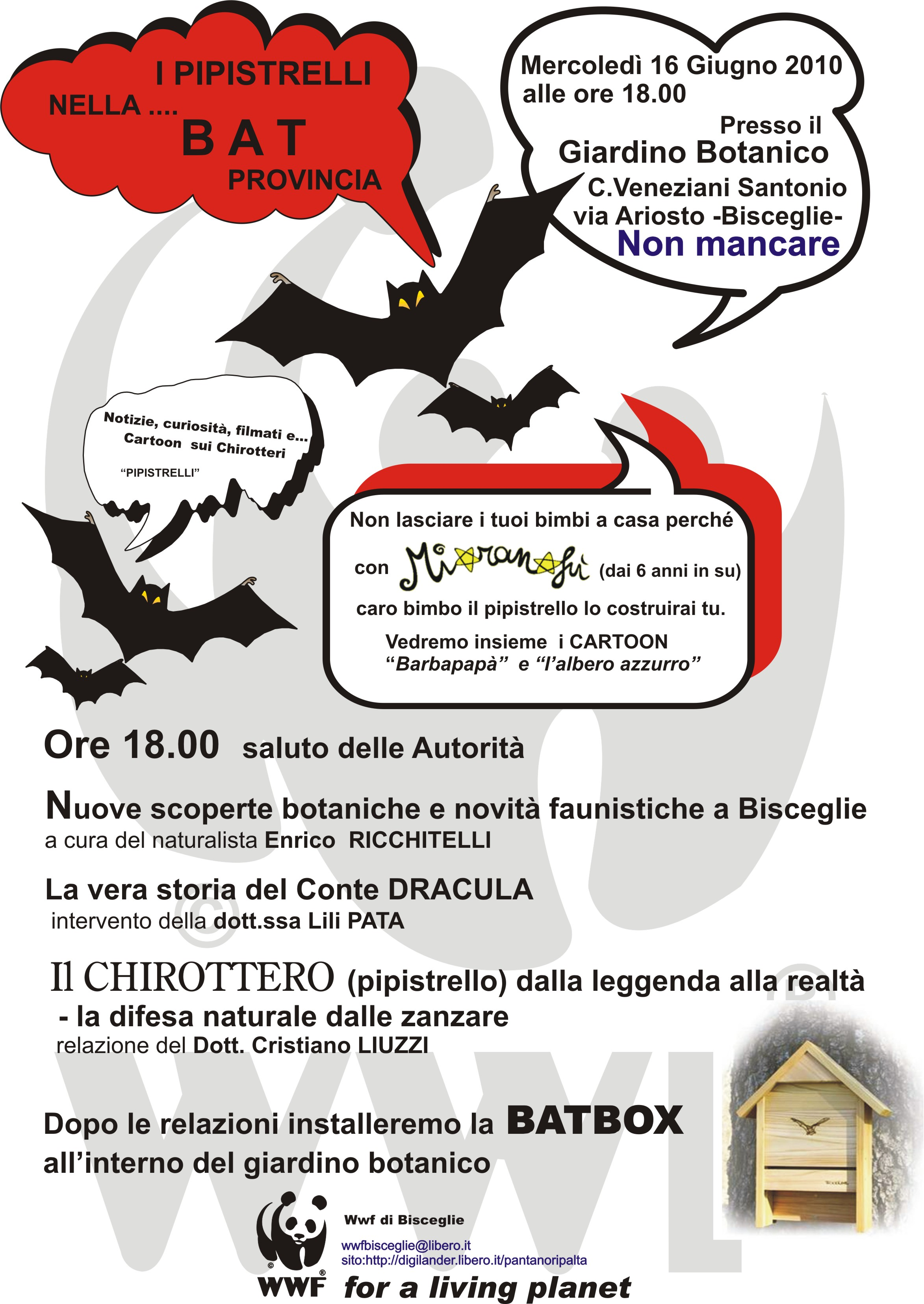 I pipistrelli nella bat provincia for Laghetto artificiale zanzare