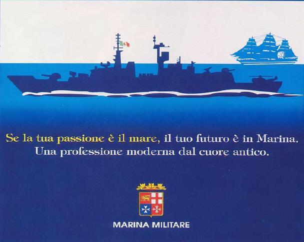 MANIFESTO PUBBLICITARIO MARINA MILITARE