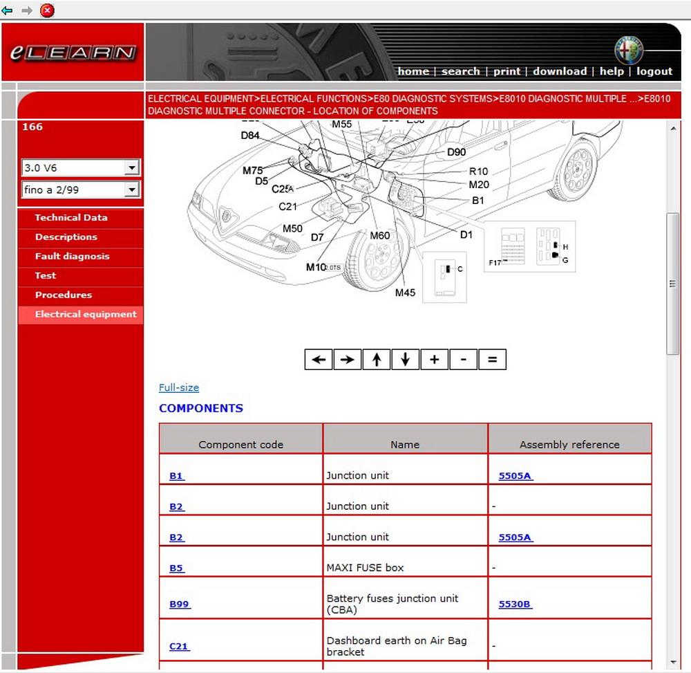 Alfa Romeo 166 Elearn