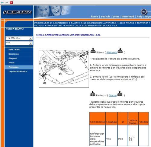 Fiat Bravo 198 Elearn Manuale Officina Workshop Manual