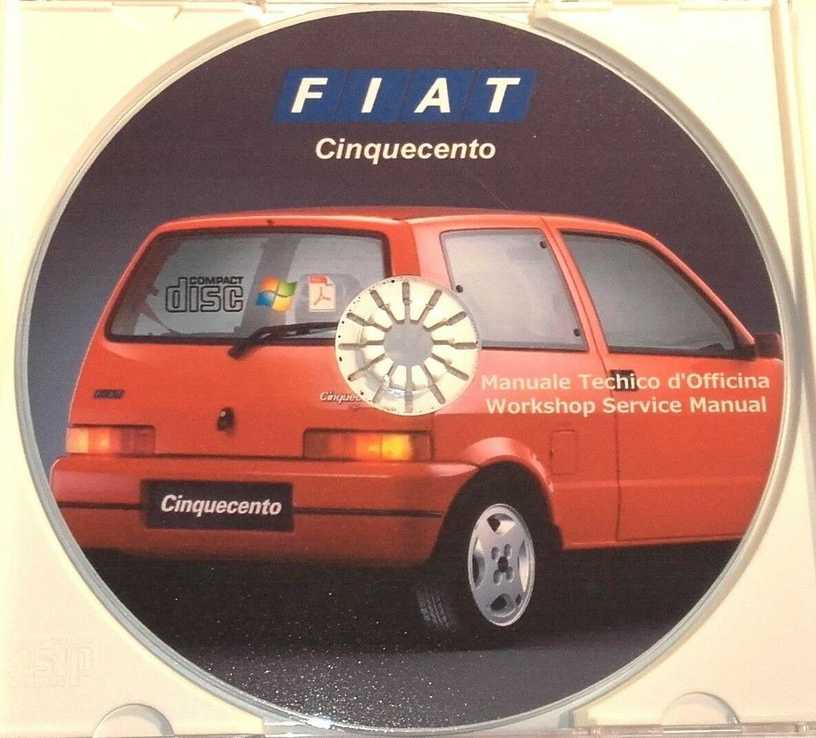 MANUALE OFFICINA FIAT NUOVA 500 CINQUECENTO WORKSHOP MANUAL SERVICE EMAIL