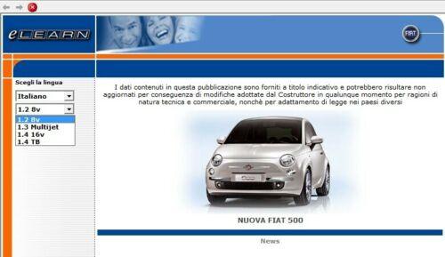 Fiat Nuova 500 Elearn Manuale Officina Workshop Manual