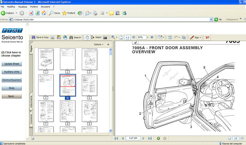 Fiat Seicento 1998  2005 Manuale Officina Workshop Manual