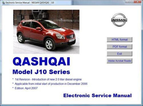 Nissan Qashqai J10 2006  2010 Workshop Manual