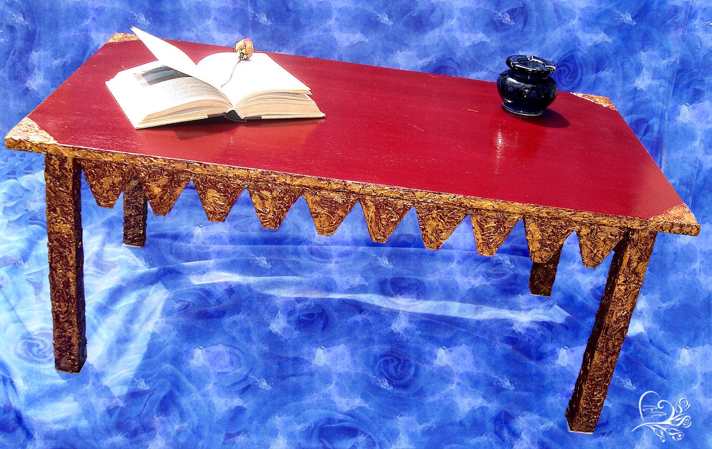 tavolino fatto a mano
