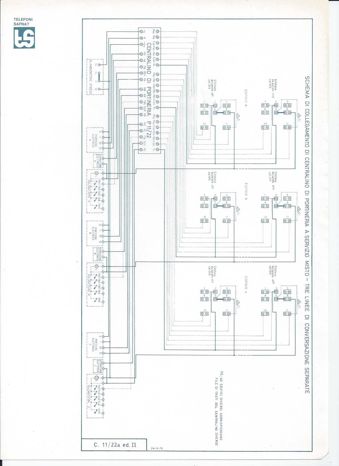 Schema Elettrico Elvox 938a : Schema elettrico elvox a sostituzione vecchio citofono