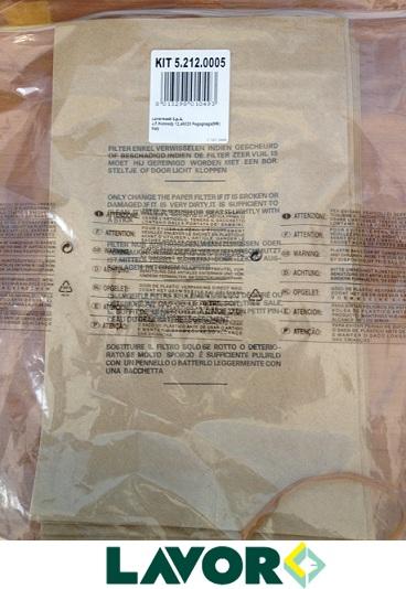 Dettagli su kit 10 filtri di carta ricambio sacchetti bidone