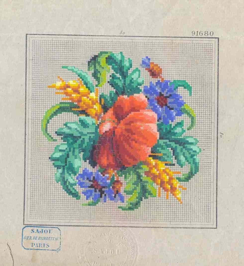 мак вышивка крестом схема вышивки в формате pat