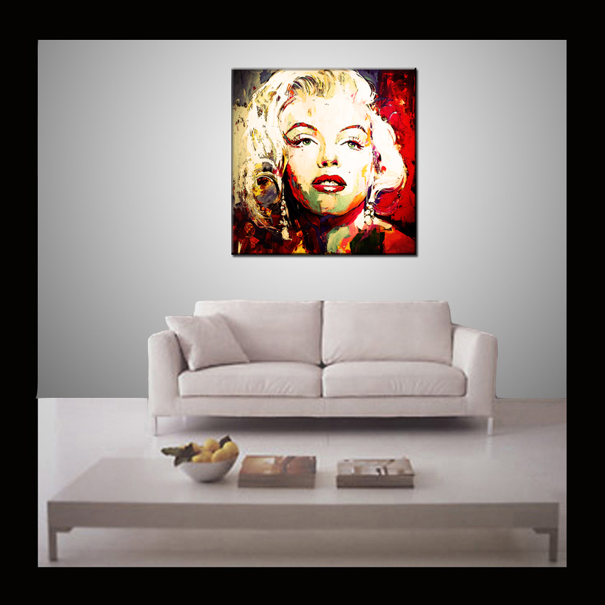 Marilyn Monroe Picture Hand Painted Pop Art-Abstract peintura ...