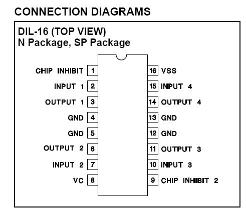 Transistor Driver Circuit Pdf in addition Triple 3 Input And Gate 7411 in addition Driver motori further  on l293 motor driver datasheet