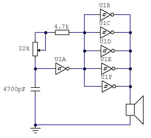 Schema Elettrico Ultrasuoni Per Cani : Quattro piccoli oscillatori