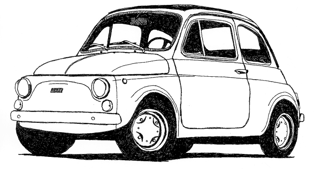 Fiat 500 Clipart Clipart Fiat 500 Royalty Clipart Panda Free