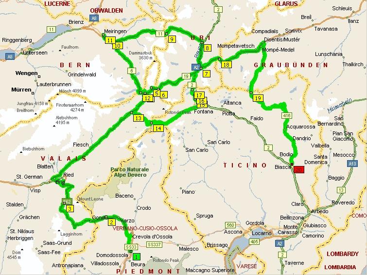Cartina Autostradale Svizzera.Bian E Gege I Viaggi E Le Gite Di Due Mototuristi Itinerari